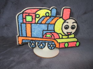 Train by plasticine finished