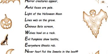 Card Halloween Spooky Poem