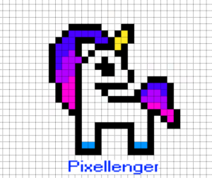 Simple small Unicorn Pixel Art