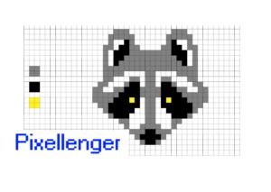 Pixel Art Racoon