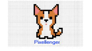Welsh Corgi puppy Pixel Art