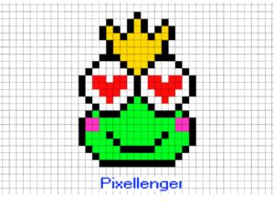 Princess Frog Pixel Art