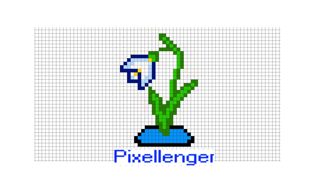 Snowdrop flower Pixel Art