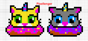 Cat in Donut 2 variants
