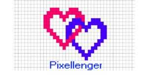 2 Hearts Valentine Pixel Art