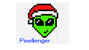 Alien Christmass Pixel Art