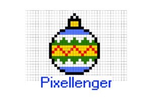 Christmas Tree Ball Pixel Art