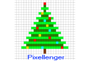 Christmas Tree Simple Pixel Art