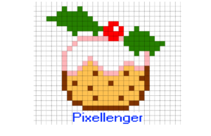 Christmas cake Pixel Art