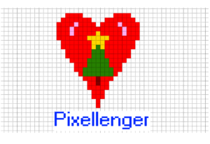 Christmas heart Pixel Art