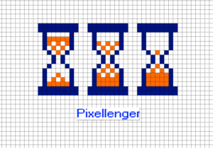 Hourglass Sandglass Pixel Art