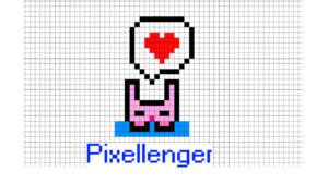 Rabbit is thinking of love Pixel Art