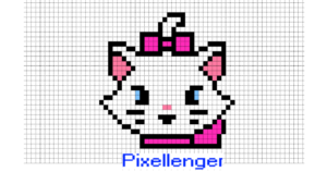 Marie Cat Pixel Art