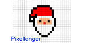 Santa Claus Simple Icon Pixel Art