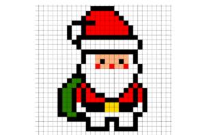 Simple Santa Claus Pixel Art