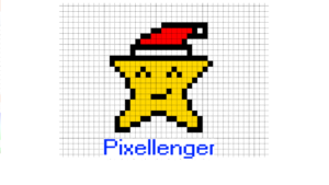 Christmas Star Pixel Art