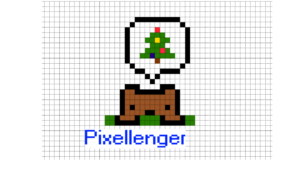 Thinking of Christmas Tree Pixel Art