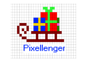 Sleigh with gifts Pixel Art