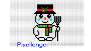 Snowman Pixel Art