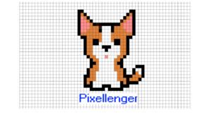 Welsh Corgi puppy Pixel Art